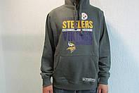 Мужская толстовка NFL серая с капюшоном 036 код 162 в