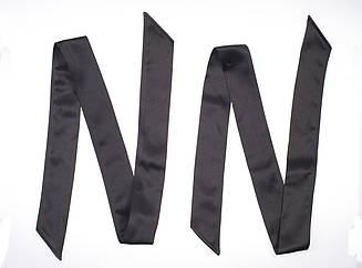 БДСМ набор, бондажные ленты. Набор из 2х шт по 1,2 метр длиной. Черный