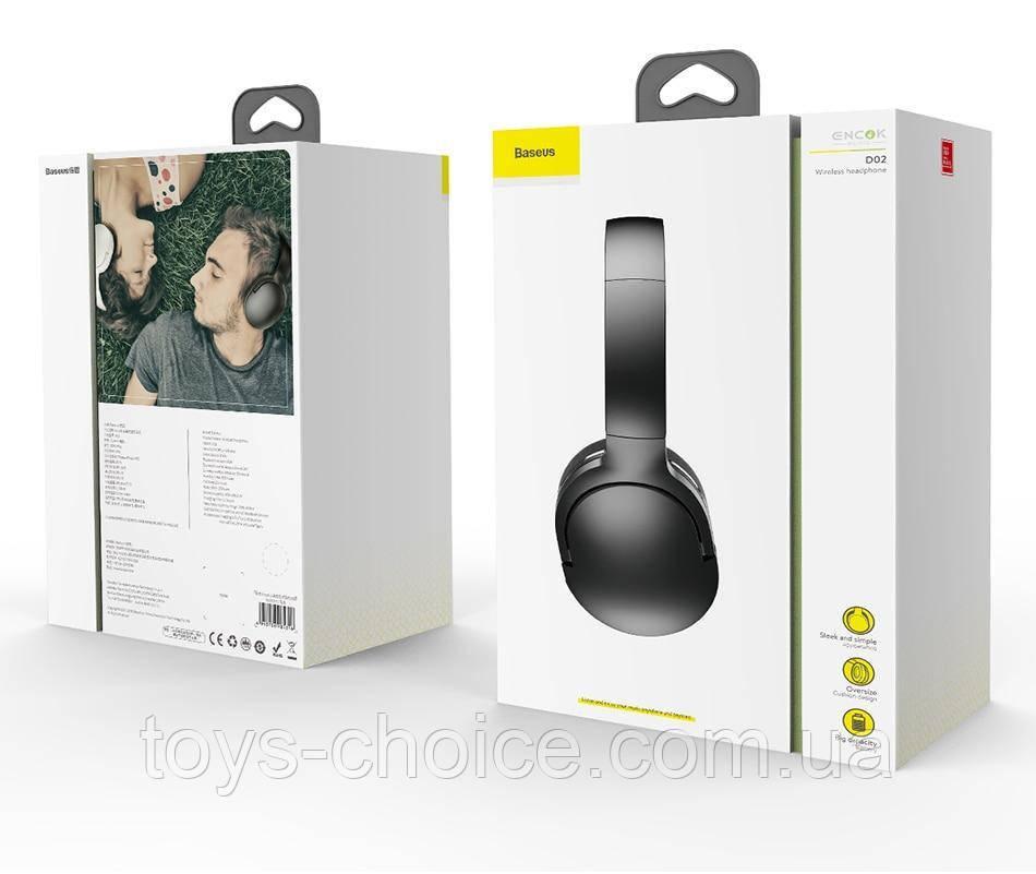 Беспроводные накладные наушники Baseus Encok D02 Wireless Headphone PS