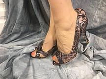 Жіночі туфлі літні MP 952164-6В коричневі 35-40