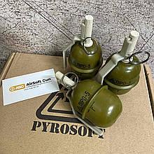 Граната імітаційно-тренувальна з активною чекою ргд-5 ПІРО-5 (ГОРОХ) [PYROSOFT] - упаковка по 12шт
