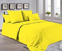 Полуторный комплект. Желтое постельное постельное белье