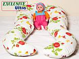 Подушка Для Беременных и Кормления Ultra Exclusive, В комплекте: наволочка - Фиолетовая, фото 7
