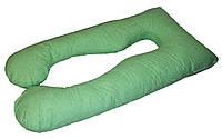 Подушка Для Беременных и Кормления Maxi Exclusive, в комплекте наволочка - Зеленая с узором, фото 1