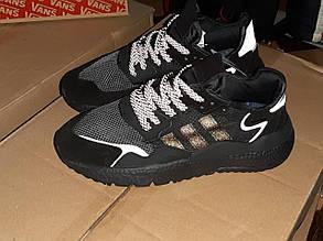 Мужские кроссовки Adidas Nite Jogger РЕФЛЕКТИВ (черные) 1947