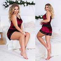 Женская пижама с шортиками больших размеров, фото 1