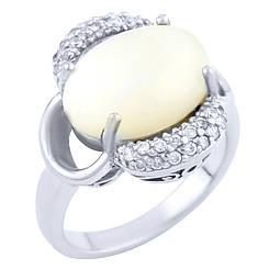 Серебряное кольцо pSilverAlex с натуральным перламутром (0130491)