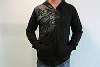 Мужская ветровка Qviksilver №78 черная с капюшоном код 163 в