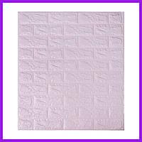 Самоклеющаяся декоративная 3D панель под светло-фиолетовый кирпич 700x770x7 Декоративная 3д панель под кирпич
