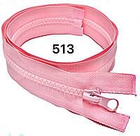 Блискавка Рожевий №5 75см тракторна одинарна роз'ємна