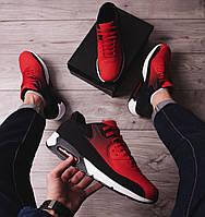 Мужские кроссовки в стиле Nike 90 черно-красные \\Обувь без бренда