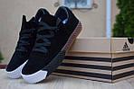 Женские кроссовки Adidas Alexander Wang (черные) 2850, фото 2