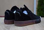 Женские кроссовки Adidas Alexander Wang (черные) 2850, фото 5