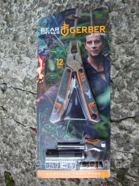 Тактический набор Gerber SURVIVAL TOOL PACK мультитул, огниво и фонарик (31-001047)