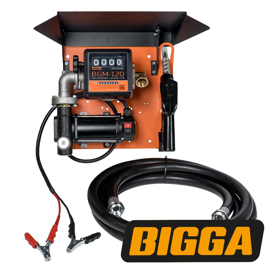 Bigga Gamma DC80-12 - Мобильная заправочная станция для дизельного топлива с расходомером, 12 вольт, 80 л/мин