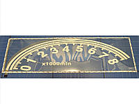 Эквалайзер на заднее стекло автомобиля СМ 580 Спидометр белый 90х25