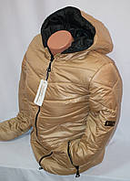 Женская  куртка утепленная  на  замке с капюшоном