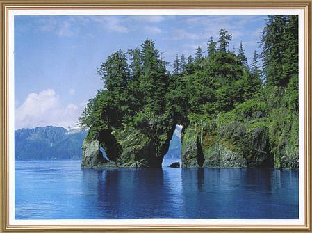 Фотообои, скалы, лес,   Бухта радости,  8 листов, размер 134 x 194cm, фото 2