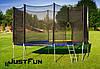 Батут Just Fun 374 см,12FT. Цвет Multicolor. Внешняя сетка + лесенка, фото 2