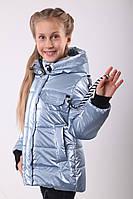 Куртки для девочек весенние интернет магазин  36-44 Серебро