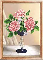 Схема для вышивки бисером Розовое трио КС-025