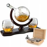 Подарочный набор: 9 камней для виски, 2 стакана, графин и подставка, фото 1