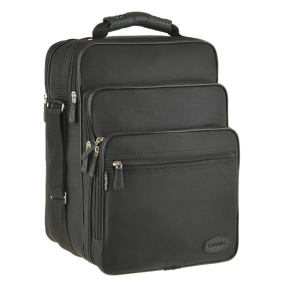 Мужская сумка Wallaby вертикальная 4 отделения резиновая ручка 26х35х20 ткань полиэстер    в 2281