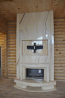 Современный камин из оникса, фото 1