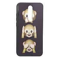 Чехол стеклянный обезьянки  для Xiaomi Redmi 8 | Чехол с рисунком | Glass case 07