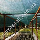 Затеняющая сетка зеленая 75% тени 4х50 м, фото 3