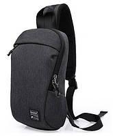Рюкзак через плече Kaka 99010, темно-сірий, фото 1