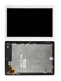 Екран (дисплей) для планшета Huawei MediaPad T3 10.0 (AGS-L09) з сенсором (тачскрін) білий