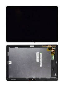 Дисплей (екран) для Huawei MediaPad T3 10.0 (AGS-L09) з сенсором (тачскрін) чорний Оригінал
