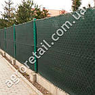Затеняющая сетка зеленая 85% тени 4х50 м, фото 4