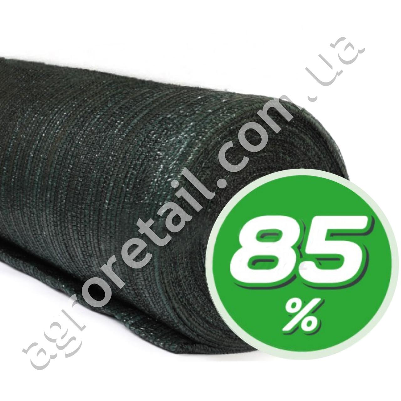 Затеняющая сетка зеленая 85% тени 4х50 м