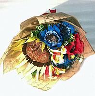"""Букет композиция цветы из конфет """"Подсолнух"""""""