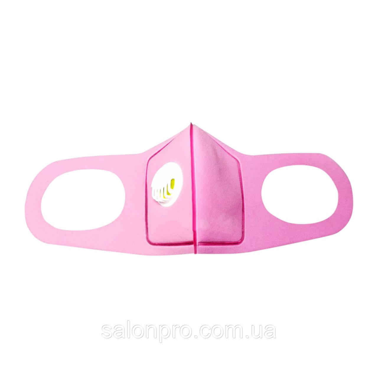 Многоразовая питта-маска, розовая с фильтром
