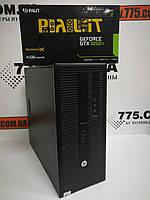 Компьютер HP 800 G1 (Tower), Intel Core i3-4130 3.4GHz, RAM 8ГБ, SSD 120GB + HDD 500ГБ, GeForce GTX 1050Ti 4ГБ