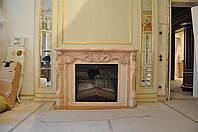 Розовый камин из мрамора, фото 1