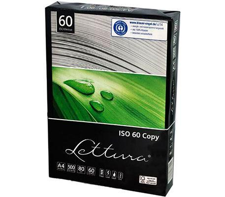 Папір офісний Lettura Ecology A4 80 г/м2 клас C 500 аркушів Сірувато-білий 60% білизна