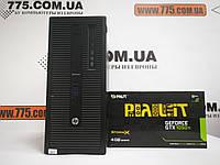 Компьютер HP 800 G1 (Tower), Intel Core i5-4570 3.6GHz, RAM 8ГБ, SSD 120GB + HDD 500ГБ, GeForce GTX 1050Ti 4ГБ, фото 1