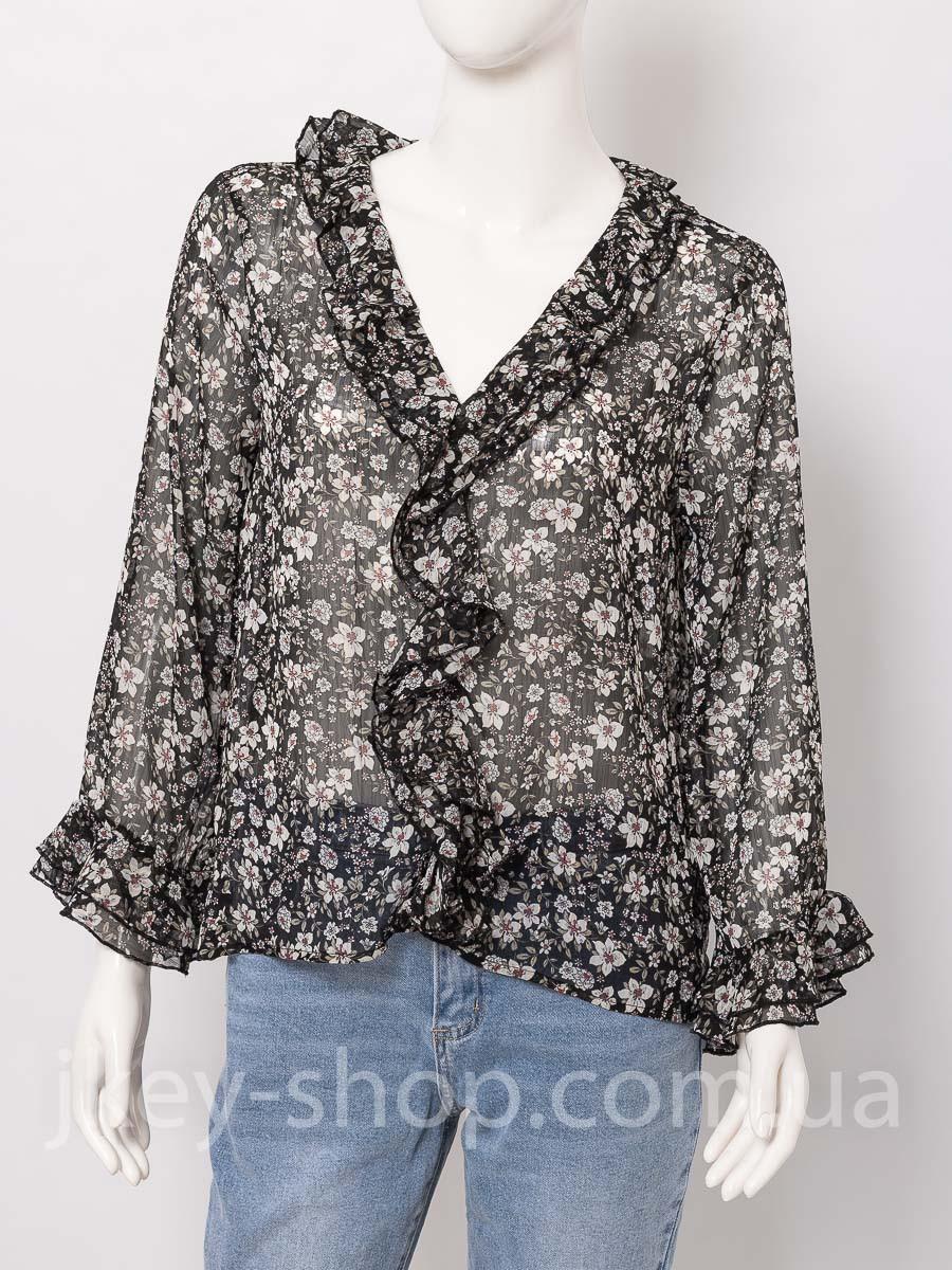 Блуза женская ITALYSTYLE V6017 BLACK FLOWERS