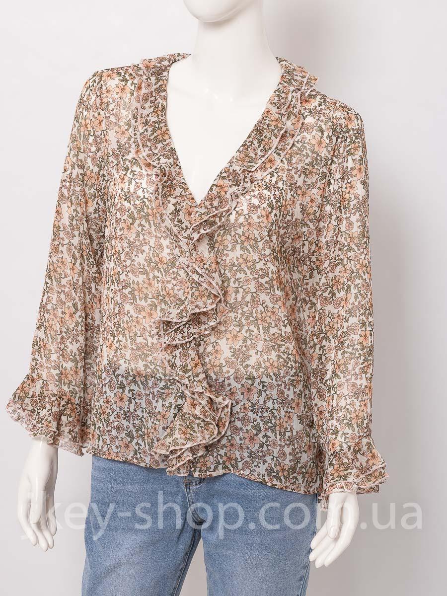 Блуза женская ITALYSTYLE V6017 BROWN FLOWERS