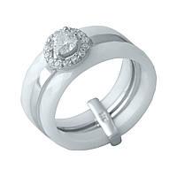 Серебряное кольцо SilverAlex с керамикой (1150566) 19 размер