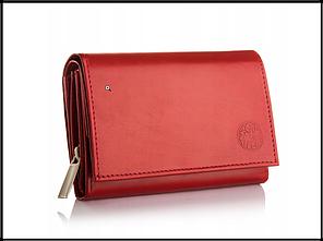 Кошелек женский бренд Betlewski натуральная кожа Польша красный код 400