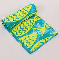 Полотенце для пляжа SPORTS TOWEL, полиэстер, р-р 80х160см., зеленый (B-FBT-(gr))