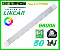 Светильник светодиодный линейный 50W 4500lm ENERLIGHT LINEAR 6500К