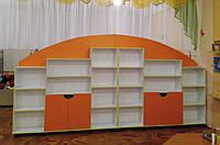 Стенка детская игровая для игрушек Design Service Анечка - 2 (547) оранжевый
