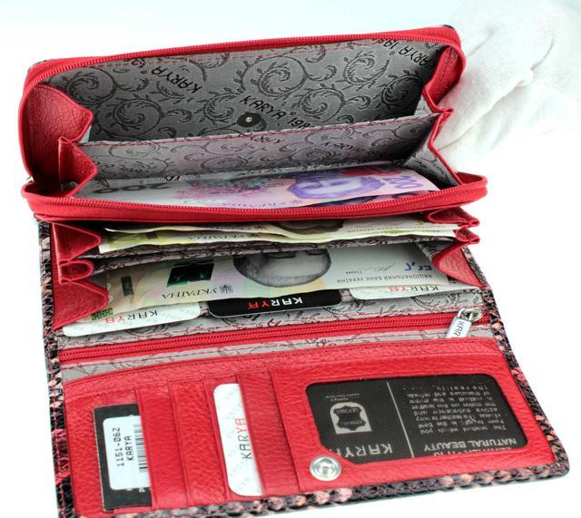Жіночий гаманець Karya 1151-062 шкіряний різнобарвний