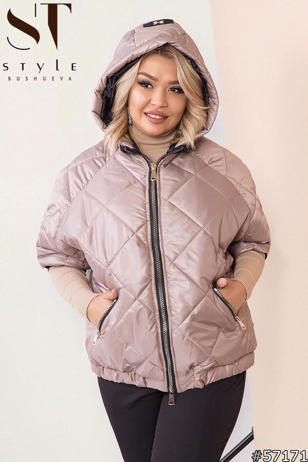 Женская демисезонная куртка Рука 3-4 Плащевка лаке на синтепоне Размер 50 52 54 56 58 60 Разные цвета